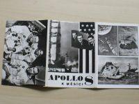 Apollo 8 k měsíci - Soubor 12 pohlednic + obálka + text.část