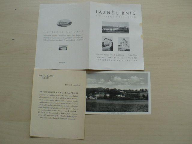 Lázně Libnič u Českých Budějovic - prospekt + pohlednice Lázně Libnič
