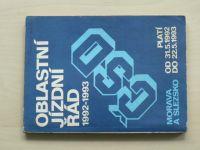 Oblastní jízdní řád ČSD 1992-1993 2.část - Morava a Slezsko