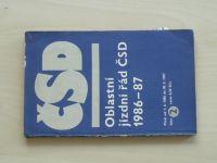 Oblastní jízdní řád ČSD 1986-1987, 2.část - Morava