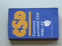 Cestovný poriadok ČSD 1986-87