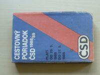 Cestovný poriadok ČSD 1988/89