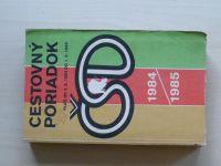 Cestovný poriadok ČSD 1984/1985