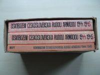 Osvobození Československa Rudou armádou 1944-1945 (1965) 2 svazky + mapová příloha, kompletní