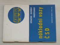Spiro, Křivohlavý - Nákladní vozy ČSD - Označení - rozměry - použitelnost (1965)