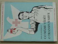 Knězková - Co máme vědět o transfusi krve (1954)