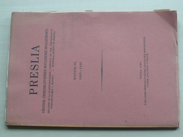 Preslia (1925) ročník III.