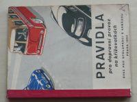 Pravidla pro dopravní provoz na křižovatkách (1954)