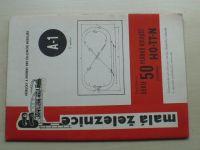 Malá železnice A-1 - Vaňura - Série 50 plánků kolejišť pro velikosti HO-TT-N (1971)