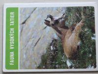 Fauna Vysokých Tatier - Soubor 8 pohlednic