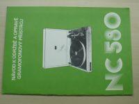 Gramofonový přístroj NC 580 - Návod k údržbě a opravě - Tesla Litovel