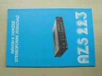 Stereofonní zesilovač AZS 223 - Návod k údržbě - Tesla Litovel