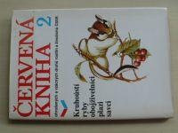 Červená kniha 2 ohrožených a vzácných druhů rostlin a živočichů ČSSR (1989)