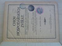 Chov hospodářských zvířat 1-12 (1923) ročník XXII.