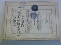 Chov hospodářských zvířat 1-16 (1920) ročník XIX.