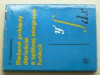 Chemnitius - Riešené príklady derivácie a spätnej integrácie funkcií (1966) slovensky