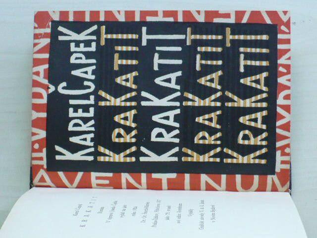 Karel Čapek - Krakatit (1924) II. vydání, obálka vevázána - Josef Čapek