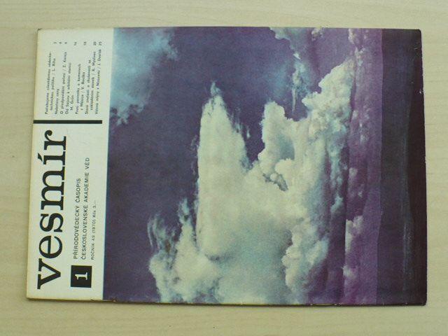Vesmír 1-12 (1970) ročník XLIX. (chybí číslo 2, 11 čísel)