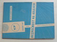 Poučný list 17 - Bezpečnost na kolejích (1969)