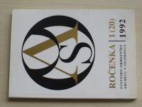 Ročenka státního okresního archivu v Olomouci 1 (1992)