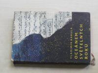 Babula - Oceánem světelných roků (1963) obálka, il. K. Lhoták, věnování a podpis autora