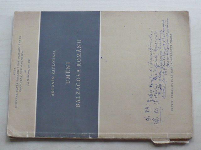 Zatloukal - Umění Balzacova románu (1966)