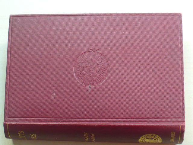 Hazlitt - The Plain Speaker - Opinions on Books, Men, and Things (1903) anglicky
