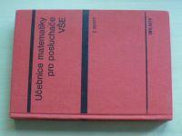 Horský - Učebnice matematiky pro posluchače VŠE (1977)