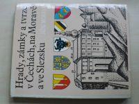 Hrady, zámky a tvrze v Čechách, na Moravě a ve Slezsku I-VII (1981-89) 7 knih