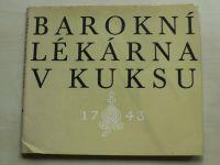 Barokní lékárna v Kuksu (1971¨)