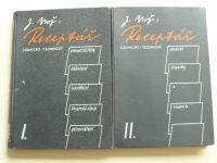 Brož - Receptář chemicko-technický I. II.III. (1947,48) aromatické látky, likérnictví, cukrářství...