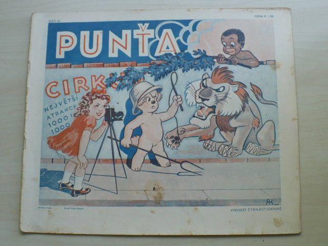 Punťa - sešit 62 (1939)