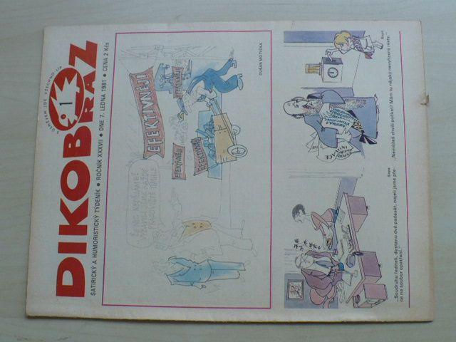 Dikobraz 1-52 (1981) ročník XXXVII. (chybí čísla 15-28, 32-40, 49, 51, 27 čísel)