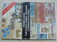 Písemná aukce poštovních známek, pohlednic a papírových platidel (2007) 29. aukce