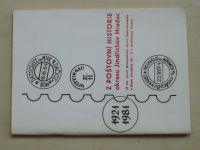 Z poštovní historie okresu Jindřichův Hradec 1921-1981