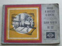 Návod k obsluze a údržbě - motor Slavia 1D 90 TA a alternátor BG 132 (ČKD Slavia Napajedla 1973)