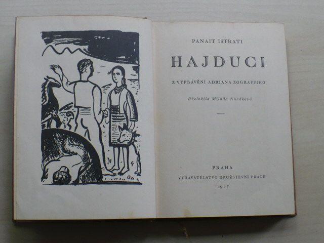 Istrati - Hajduci - Z vyprávění Adriana Zoghraffiho (1927)
