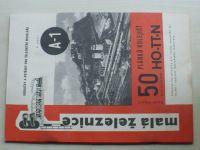 Malá železnice A1 - Vaňura - 50 plánků kolejišť pro velikosti HO-TT-N (1972)