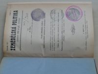 Zemědělská politika revue 1-6 (1916) ročník XV.