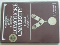 Šantavý, Hošek - Organizace, pečeti a insignie olomoucké univerzity v letech 1573-1973 (1980)