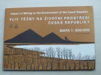 Vliv těžby na životní prostředí České republiky - Mapa 1:500000, ed. Reichmann (1992)