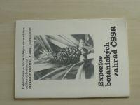 Expozice botanických zahrad ČSSR - na společné expozici Flora Olomouc 83