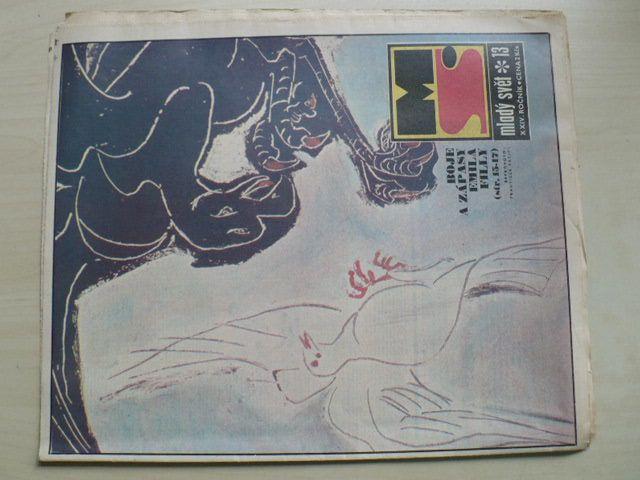 Mladý svět 13 (1982) ročník XXIV.
