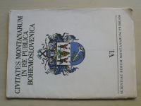 Horní města v Československu VI. (Příbram 1984) Soubor heraldických kreseb Jana Čáky