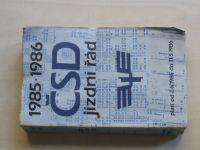 Jízdní řád ČSD 1985-1986