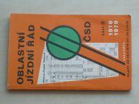 Oblastní jízdní řád ČSD část (2) Morava, 1978-1979