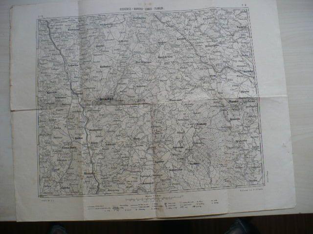 Mapa Boskovice - Blansko - Konice - Plumlov - F-9 - 1:100.000, kreslil Srp, vydal Vilímek Praha