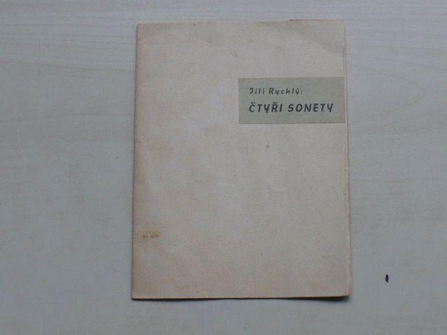 Čtyři sonety k obrazu Petra Brandla Svatá Máří Magdaléna (Jiří Rychlý 1938, 16/100, podpis)