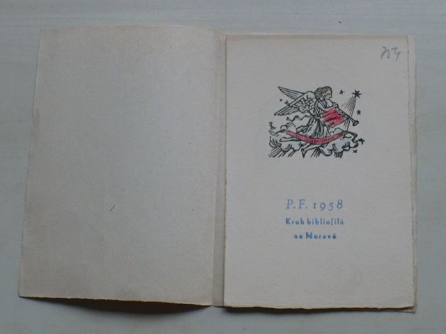 Novoročenka P.F. 1958 - Kruh bibliofilů na Moravě