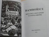 Dambořice ve světle kronik - 460 let od povýšení na městečko (1994) poblíž Kyjov